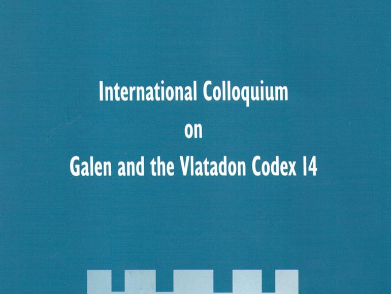 International Colloquium on Galen and the Vlatadon Codex 14 poster