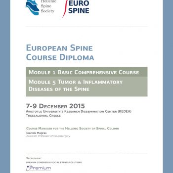 Eurospine Diploma poster