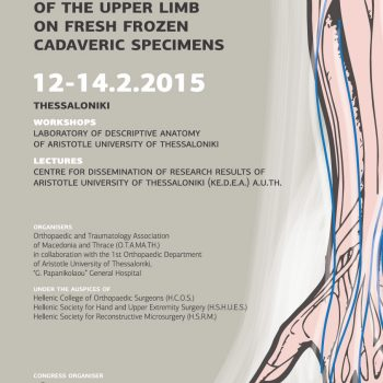 1st Seminar of Upper Limb Tendon Transfer poster