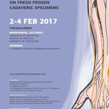 3nd Seminar of Upper Limb Tendon Transfer poster
