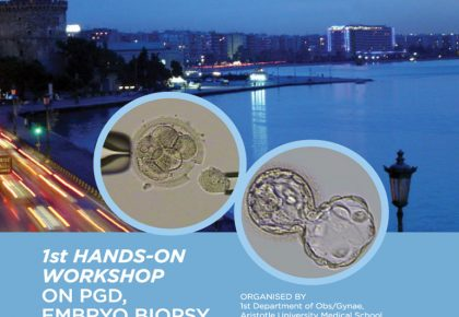 1st Hands-on Workshop on PGD, Embryo Biopsy & Vitrification poster